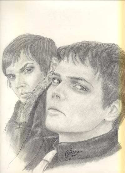 Gerard Way, Mikey Way por ou812cmr